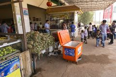 Bus station in Cambodia Royalty Free Stock Photos