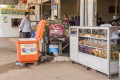 Bus station in Cambodia Royalty Free Stock Images