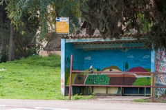 Bus station in the countryside Royalty Free Stock Photography