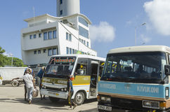 Bus station in Dar-es-Salaam. Bus station with coaches in Dar-es-Salaam; Tanzania; Africa Royalty Free Stock Photography