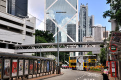 Bus station in downtown of Hongkong Royalty Free Stock Images