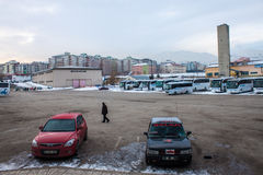 Bus station in Erzurum Stock Images