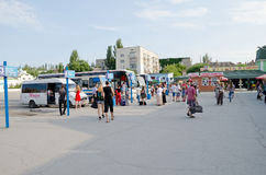 Bus station in Feodosia Royalty Free Stock Photo