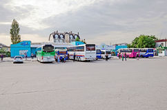 Bus station in Feodosia Stock Photography