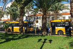 Bus station in Funchal Stock Photography