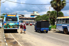 The bus station in Galle Stock Photo