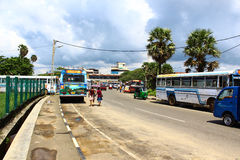 The bus station in Galle Royalty Free Stock Photo