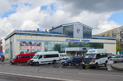 Bus station Gomel, Belarus Stock Photo