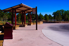 Bus station at Grand Canyon Stock Images
