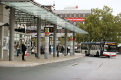 Bus station Hamm Royalty Free Stock Images