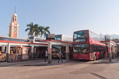 Bus station in Hong Kong royalty free stock photography