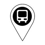 bus station isolated icon Stock Photos