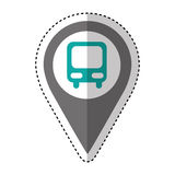 bus station isolated icon Royalty Free Stock Photography