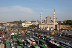Bus station in Istanbul Stock Photo