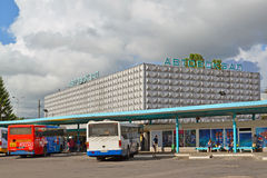 Bus station in Kaliningrad, Russia Stock Photos