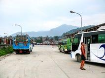 Bus station in Kathmandu Royalty Free Stock Image