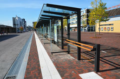 Bus station in Lelystadt, Holland Stock Photo