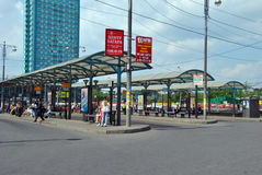 Bus Station  in Moscow Royalty Free Stock Image