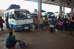 Bus station in Muang Xay, Laos Stock Photography