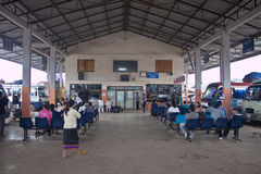 Bus station in Muang Xay Stock Photography