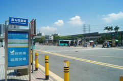 Bus station of Nantou frontier inspection station Royalty Free Stock Images