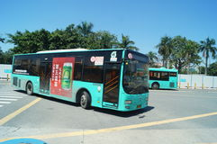 Bus station of Nantou frontier inspection station Stock Photography