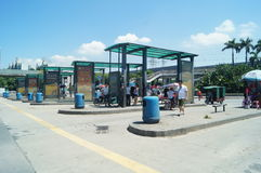 Bus station of Nantou frontier inspection station Stock Photo