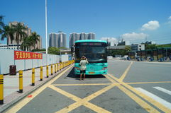 Bus station of Nantou frontier inspection station Royalty Free Stock Image