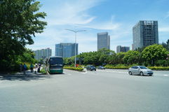 Bus station, in Nantou, in Shenzhen, China Stock Photography