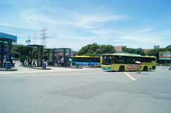 Bus station, in Nantou, in Shenzhen, China Stock Images