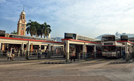 Bus Station. Near Star Ferry Pier, Hong kong Stock Photography