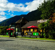 bus station in New Zealand Stock Image