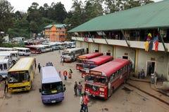 The bus station of Nuwara Eliya in Sri Lanka. 15. December 2017 Royalty Free Stock Photography