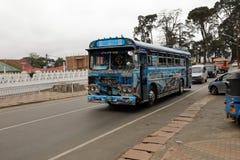 The bus station of Nuwara Eliya in Sri Lanka. 15. December 2017 Royalty Free Stock Photo