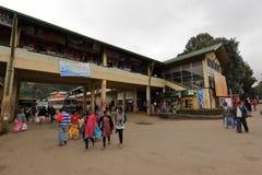 The bus station of Nuwara Eliya in Sri Lanka. 15. December 2017 Royalty Free Stock Images