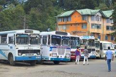 The bus station in Nuwara Eliya Stock Photos