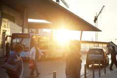Bus station Royalty Free Stock Photography