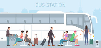 Bus station Royalty Free Stock Image