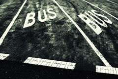 Bus station road sign grunge Royalty Free Stock Photography
