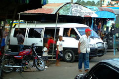 Bus Station in Samana. Dominican republic Royalty Free Stock Photos