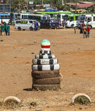 Bus Station in Sodo. The public transport in Ethiopia nether ver Stock Images