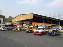 Bus Station to Khon Kaen view Stock Photo