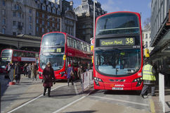 London bus station Stock Photo
