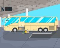 Bus on station stock illustration