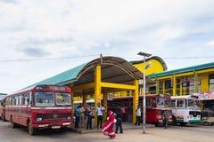 Bus station in Trincomalee, Sri Lanka Stock Photos