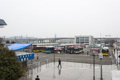 Bus station in Wenzhou railway south station Stock Photography