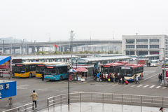 Bus station in Wenzhou railway south station Stock Images