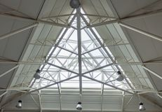Bus station triangulate skylight royalty free stock photo