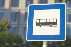 Bus stop. This is a bus stop sign Royalty Free Stock Photos