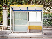 Bus stop. Modern bus stop in italy (caorle Royalty Free Stock Images